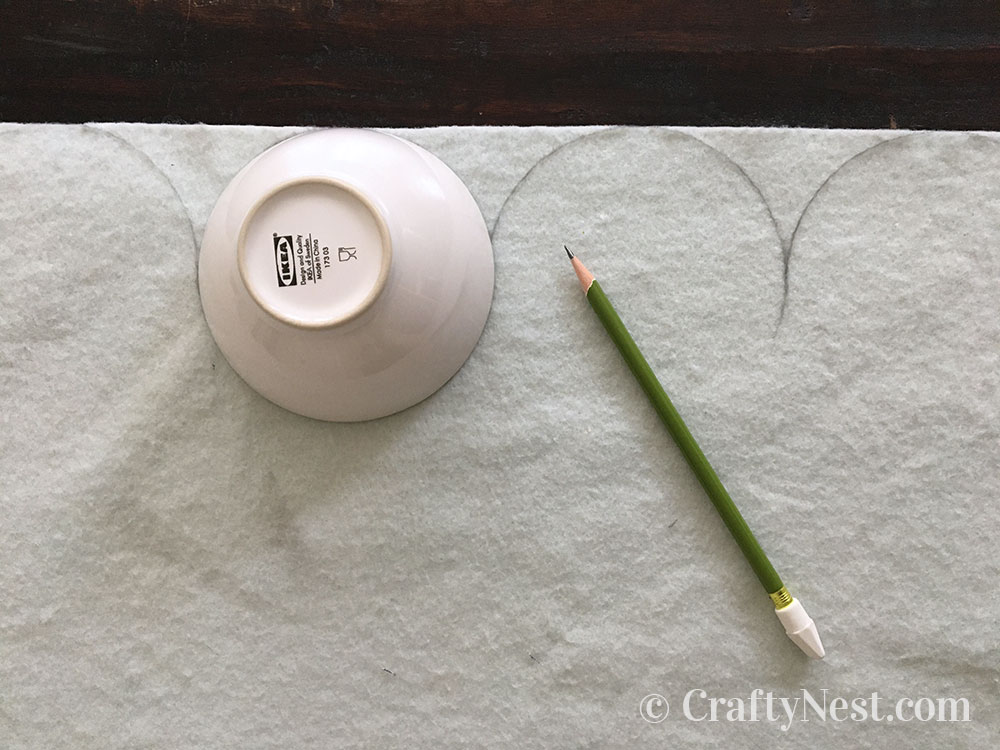 Tracing the bowl pattern, photo