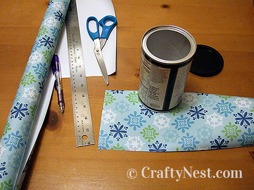 Cut wrapping paper, photo