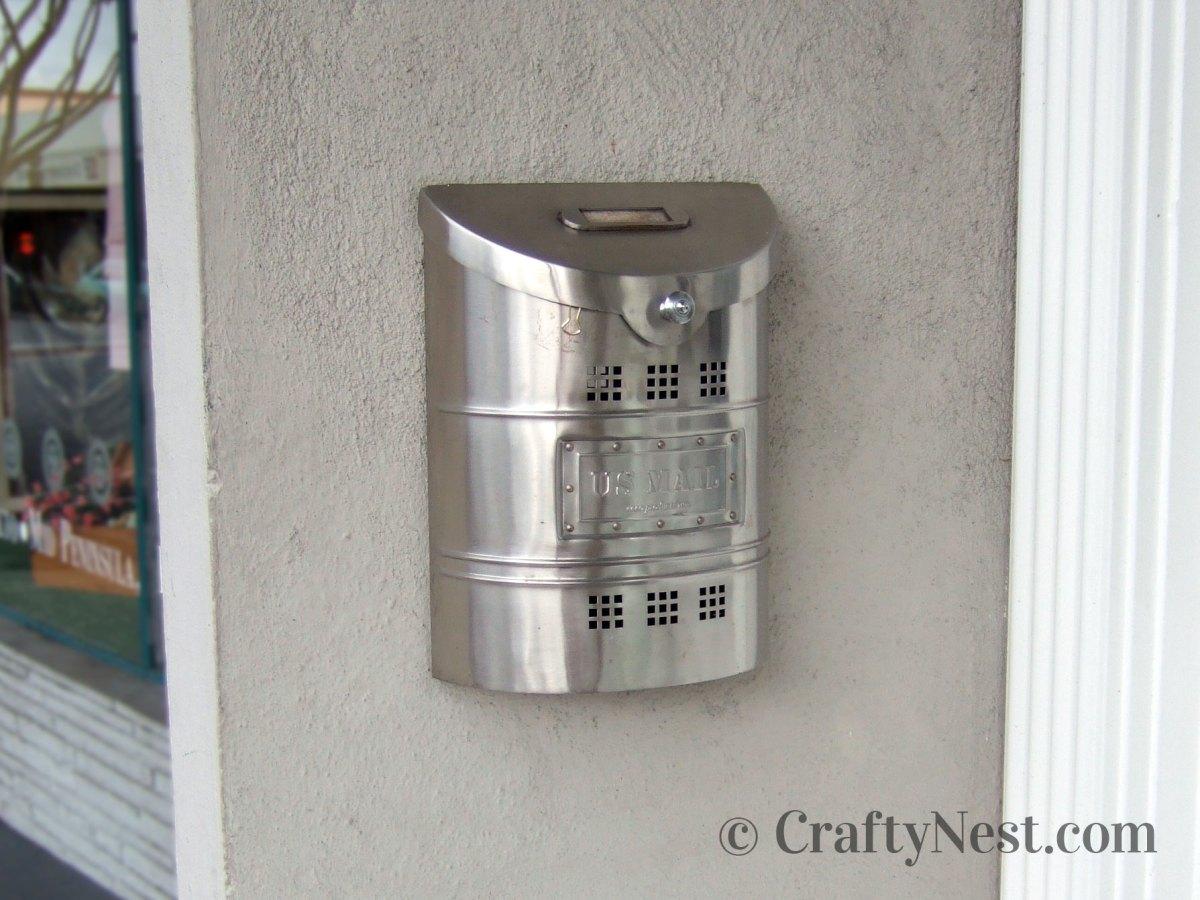 Shiny silver mailbox, photo