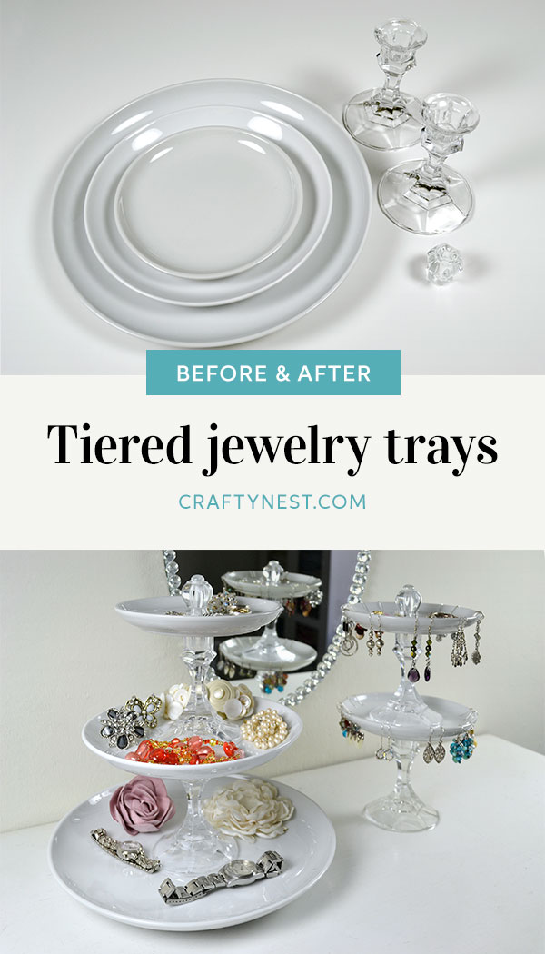 Crafty Nest tiered jewelry trays Pinterest image