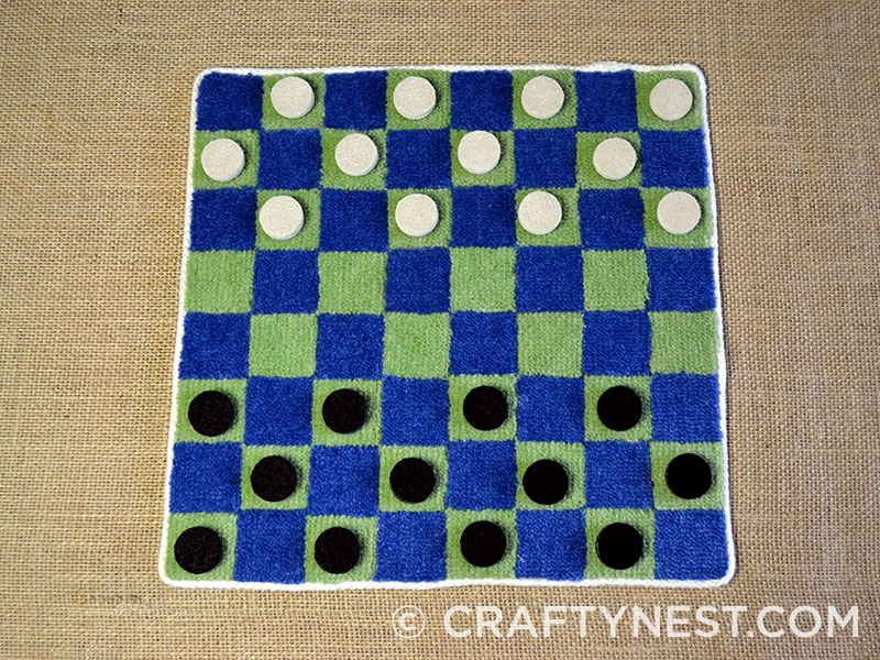 Checkerboard and checkers, photo