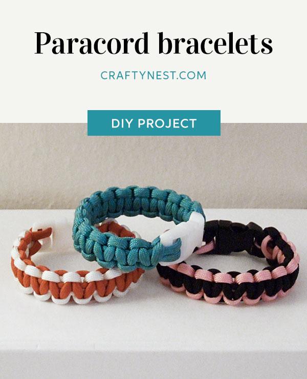 Crafty Nest camp craft paracord bracelets Pinterest image