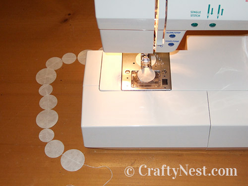 Sewing the circles in strands, photo