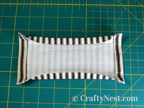 Fold and press side edges, photo