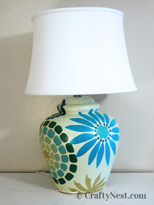 Completed lamp, photo