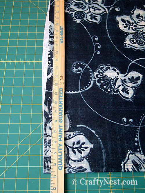 Cut a clean edge to the fabric, photo