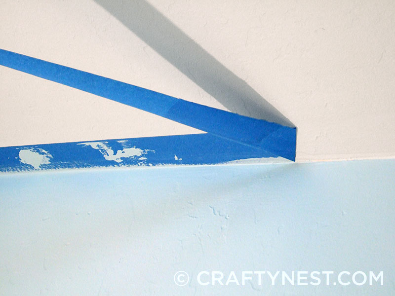 Remove painter's tape at an angle, photo