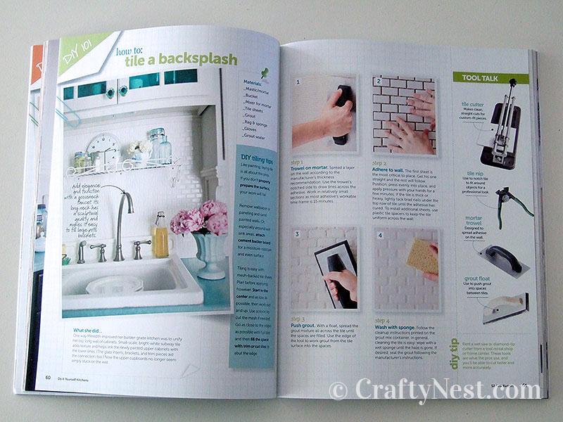 DIY Kitchens book spread, photo