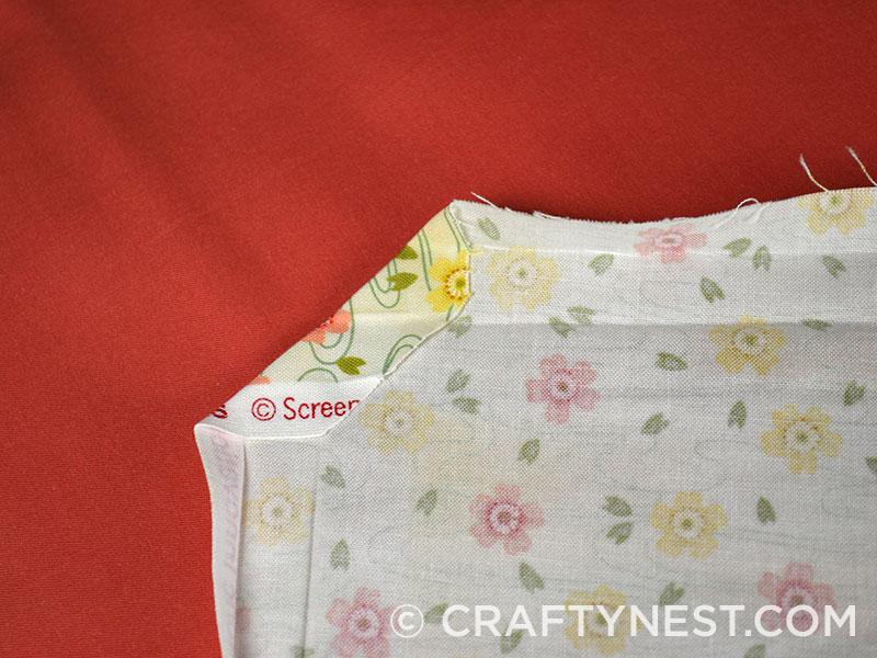 Folded corner of the napkin, photo