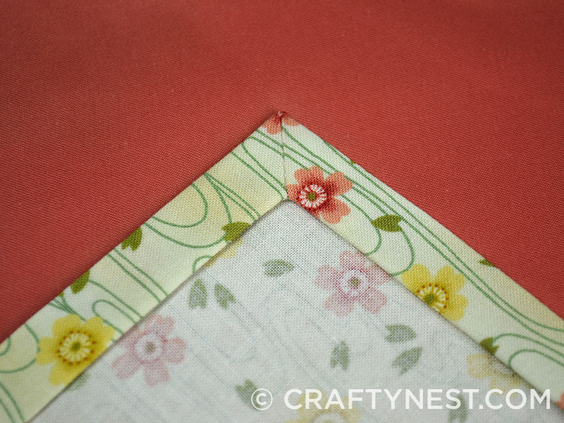 Fold the fabric edges under, photo