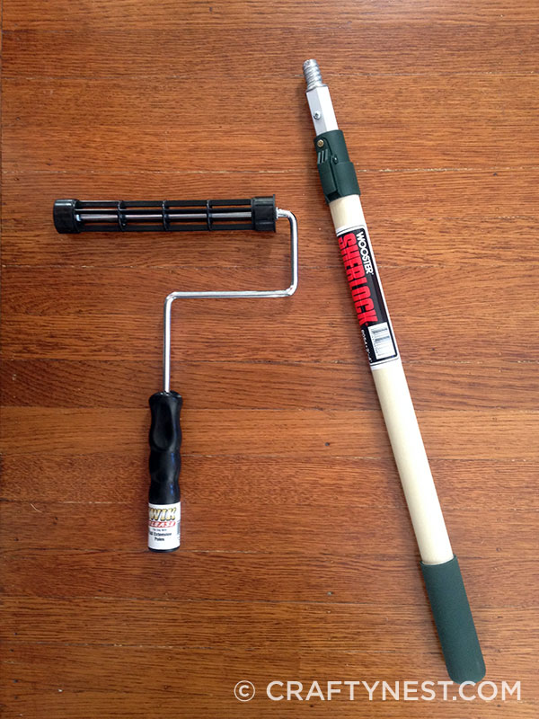 Paint roller and extension pole, photo