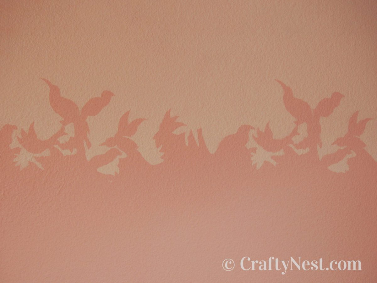 Handmade stencil painted on a wall, photo