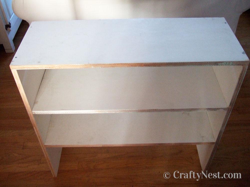 Shelves installed, photo