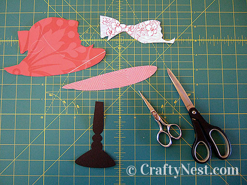 All pieces of the hat are cut out, photo