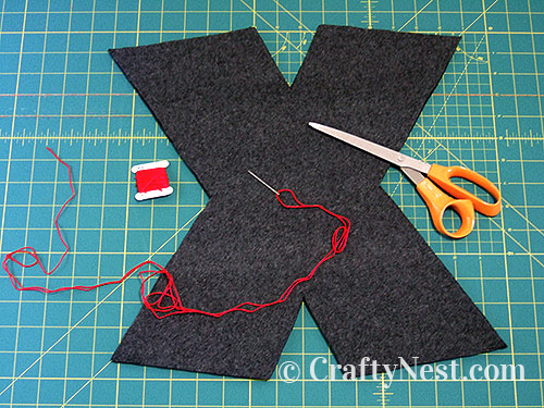 Hand-sew the outside edge, photo