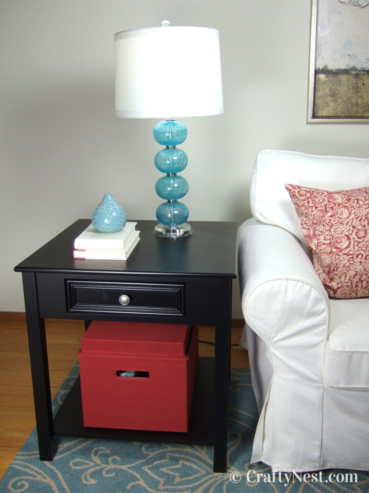 Closed Bento Box on side table, photo