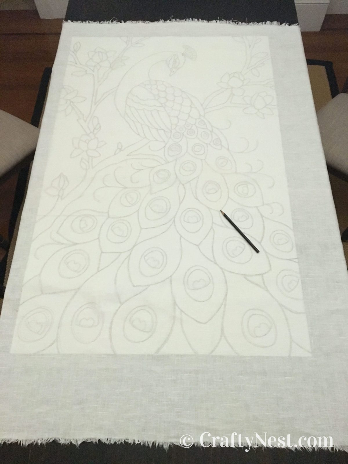 Trace the pattern onto the fabric, photo