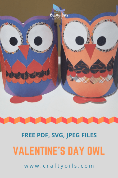 Valentines Day Owl free cut files. DIY.
