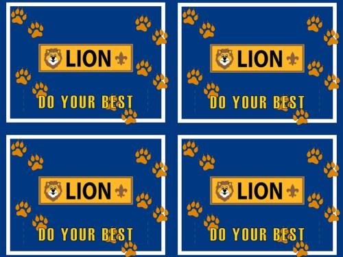 Cub Scout Lion Belt Loop Award holder