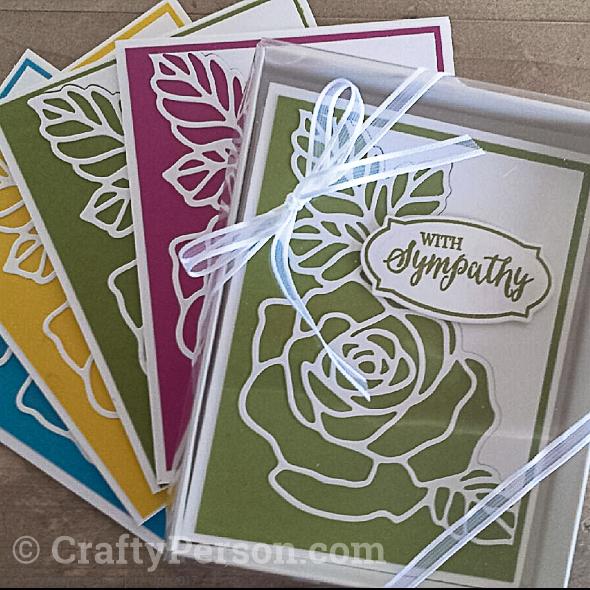 LA21-4 Rose Cards in Box