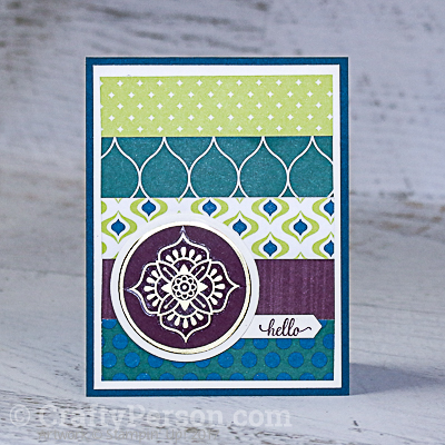 Card Layout Inspiration by CraftyPerson
