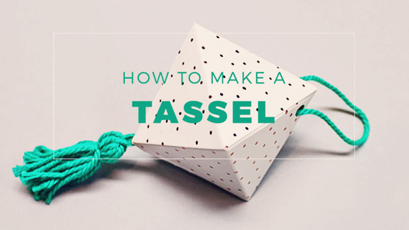 How to Make a Tassel with Stampin' Up! Twine