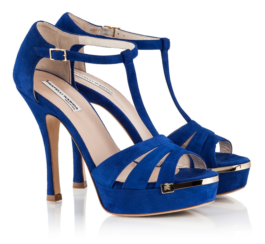 Strappy Heels Royal Blue