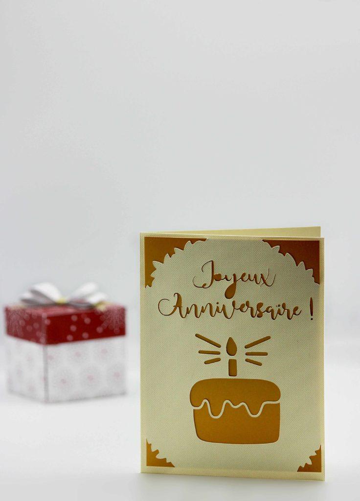 Carte d'anniversaire Cricut Joy