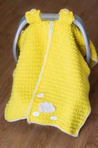 Car seat cover crochet pattern