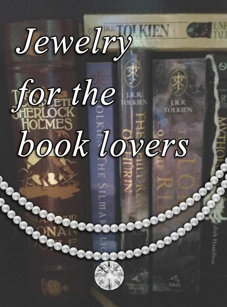Jewelry collection for book lovers