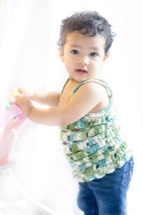 Baby crochet top