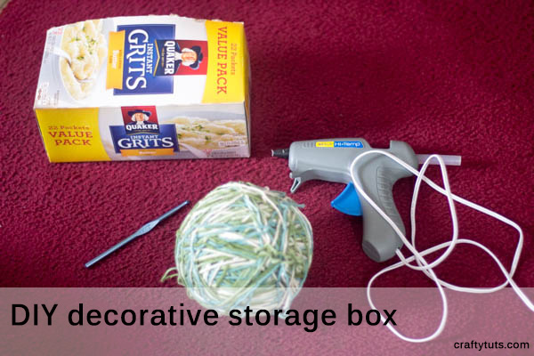 DIY Decorative Storage Box. Step by step instructions with detailed photos, showing you how to make a decorative storage box.