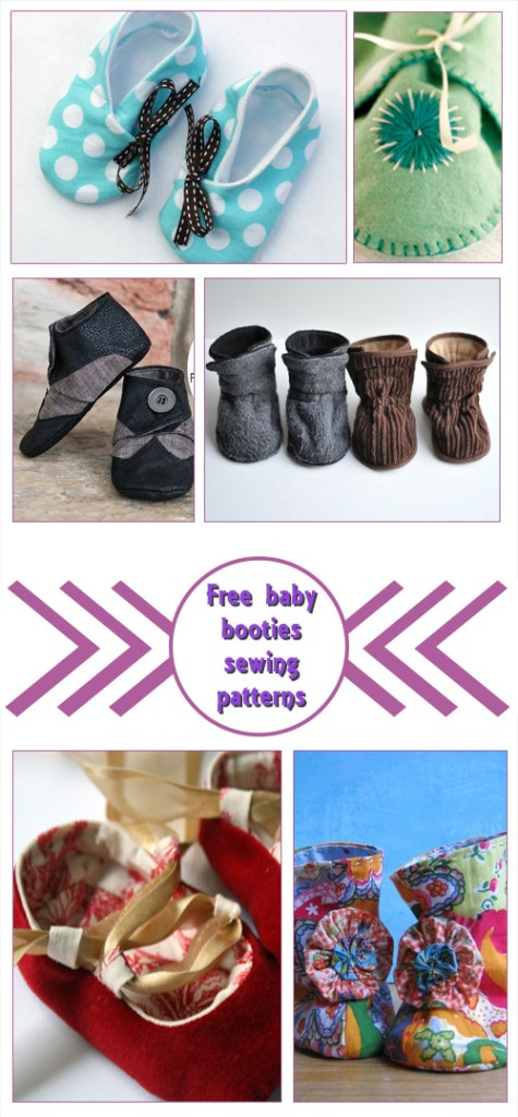 Free Baby Booties Sewing Patterns - Crafty Tutorials