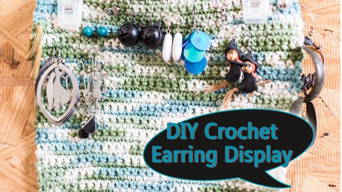 DIY crochet earring display