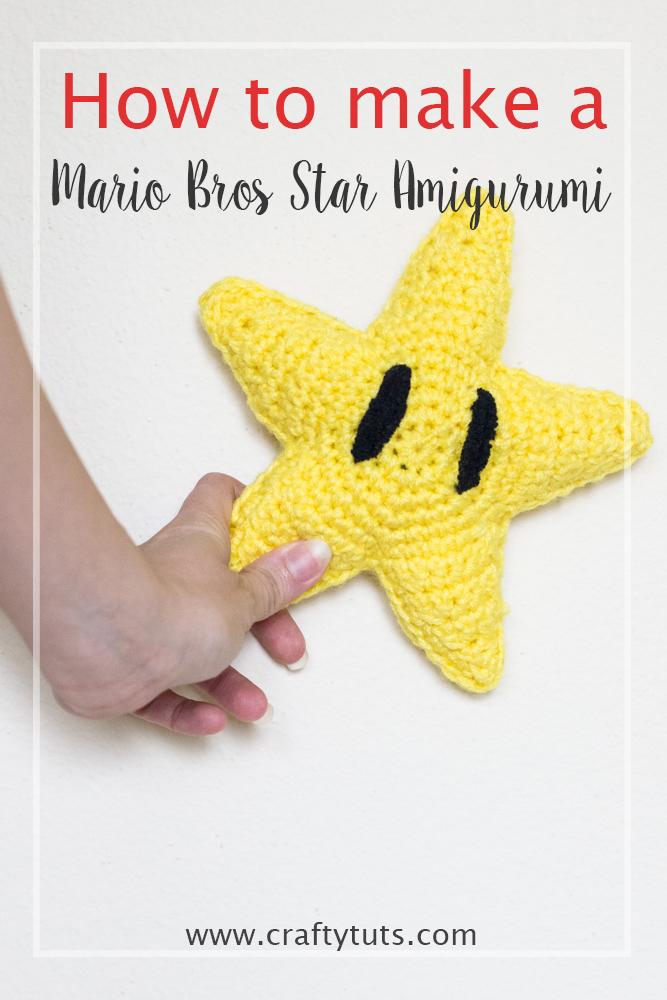 Mario Bros Star Amigurumi