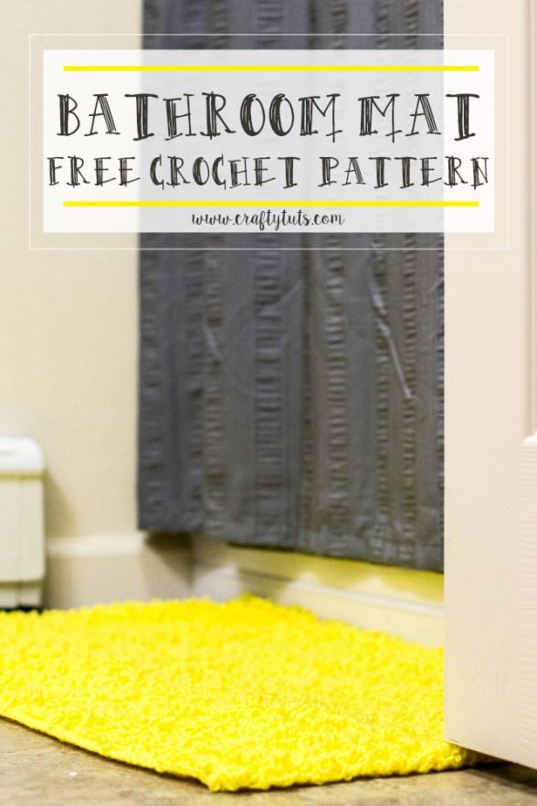 bathroom-mat Bathroom Mat Free Crochet Pattern