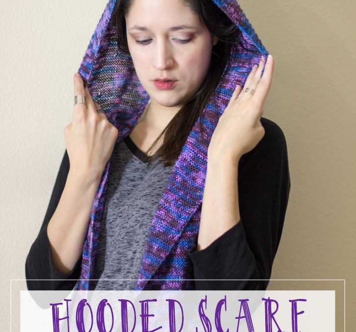 Hooded Scarf Free Knitting Pattern (hoodie scarf)