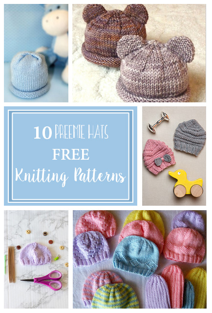 Free Preemie Hats Knitting Patterns: Round up post containing a list of various Free Preemie Hats Knitting Patterns. Some with video tutorials.