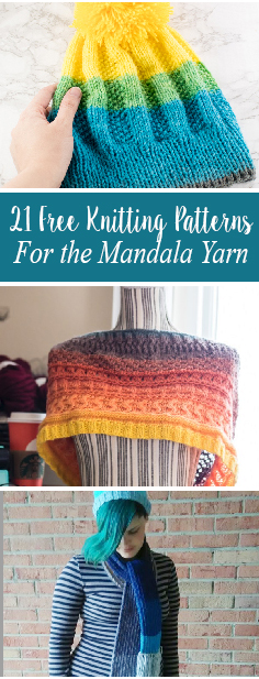 Free Knitting Patterns For the Mandala Yarn
