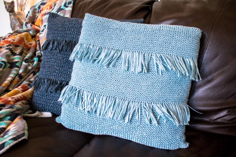 Knit throw pillow free pattern