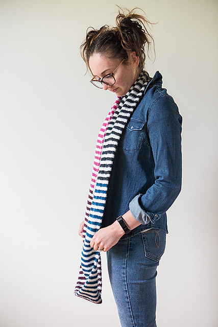 Candy Stripes Scarf Free Crochet Pattern. Very versatile, as you can wear it as an infinity scarf or double it up around your neck to wear it as a cowl.