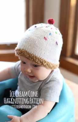 Ice Cream Hat Knitting Pattern