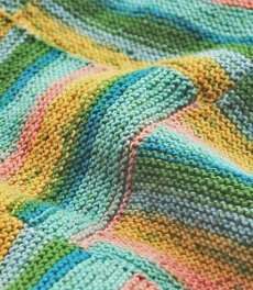 Striped Vexillo Afghan