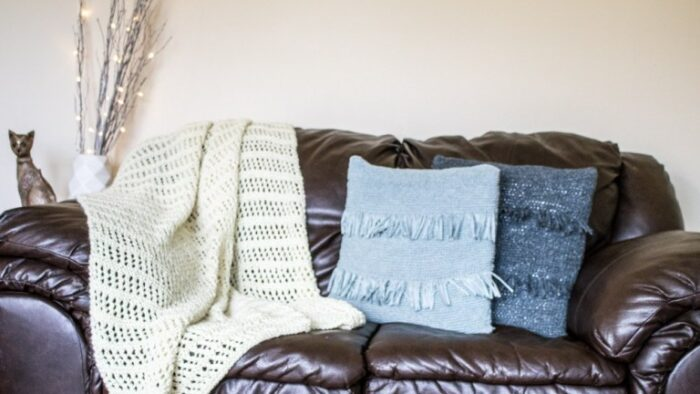 Lacy Summer Throw Free Knitting Pattern by Mary of CraftyTuts