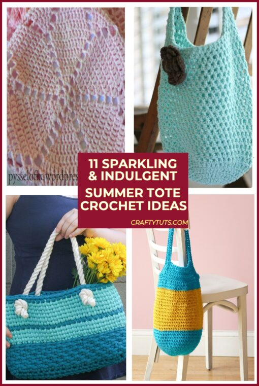 11 Sparkling, Indulgent Summer Tote Crochet Ideas