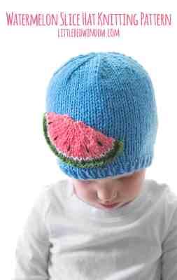 Watermelon Slice Hat Knitting Pattern