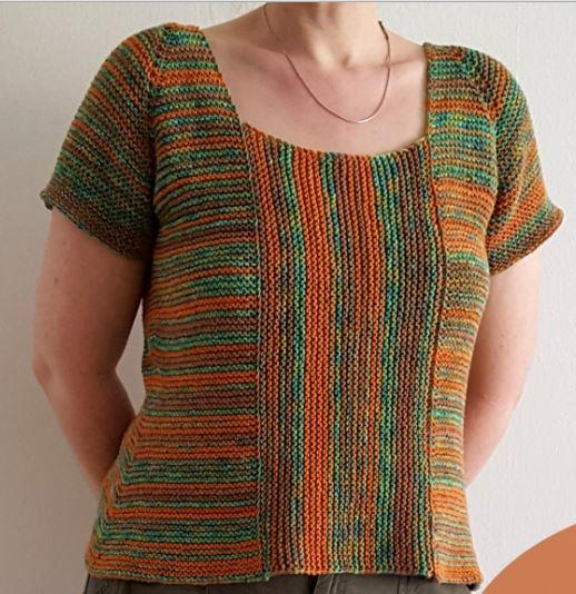 This Garter Stitch Summer Sweater is a really interesting summer knitting project.