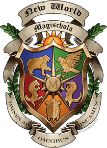 The New World Magischola Crest