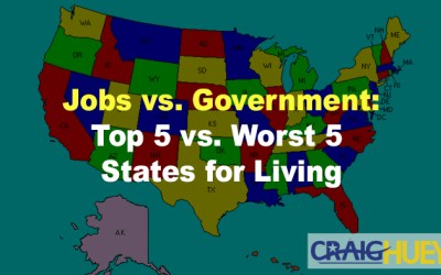 Jobs vs. Government: Top 5 vs. Worst 5 States for Living