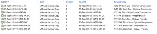 ReFS vs NTFS - Veeam Test Copy Jobs